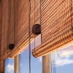 Sichtschutzrollo Bambus